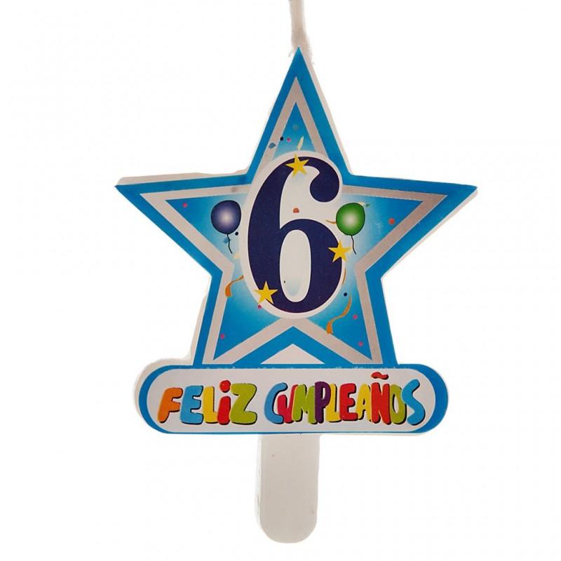 Vela Número 6 Estrella