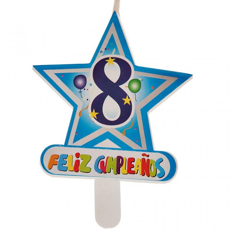 Vela Número 8 Estrella