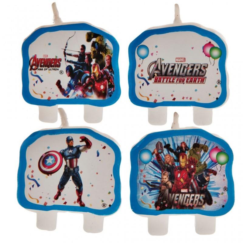 Juego de 4 velas Avengers