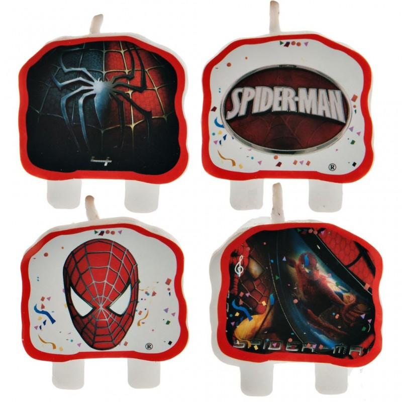 Juego de 4 velas Spiderman