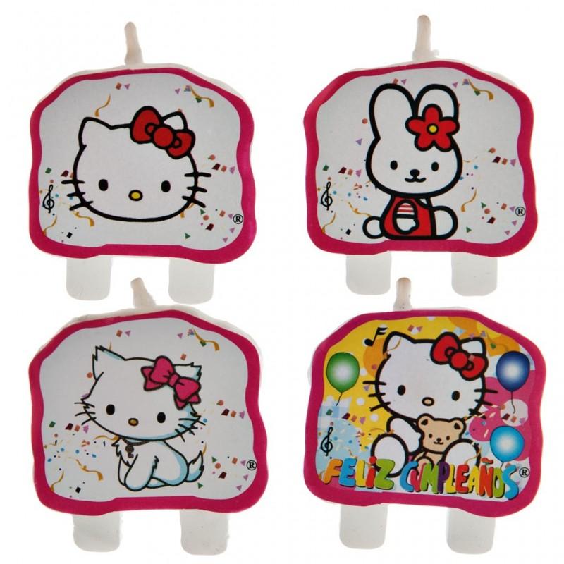 Juego de 4 velas Hello Kitty