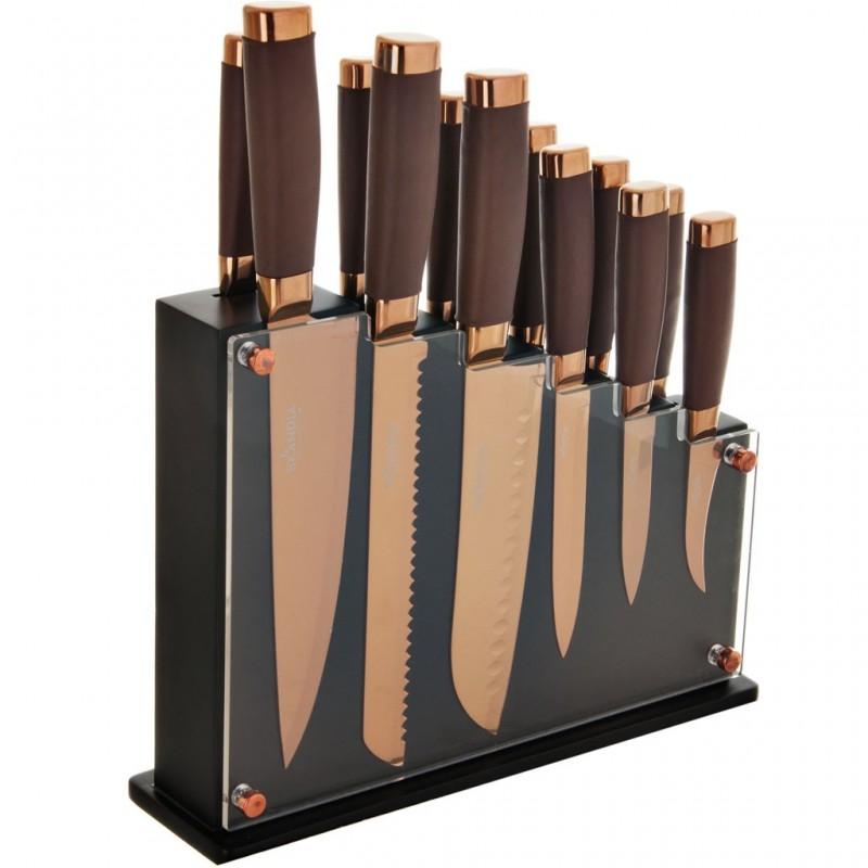 Juego de 13 piezas cuchillos y bloque Skandia Hampton Forge