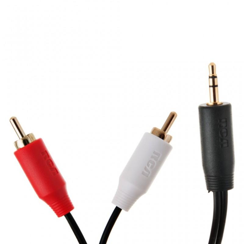 Cable de audio / video Y 3.5 mm RCA
