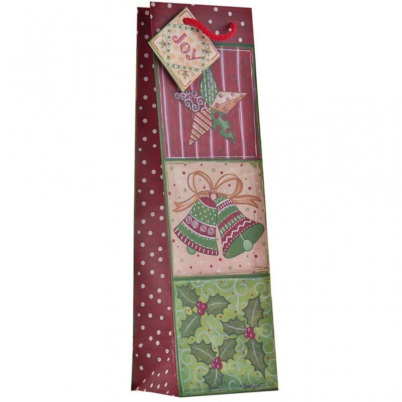 Funda regalo para botella surtido Brillante Navidad Lindy Bowman