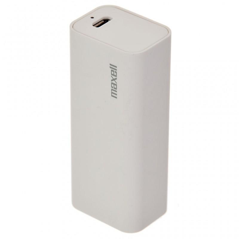 Cargador portátil con conector USB 2600mAh blanco Maxell