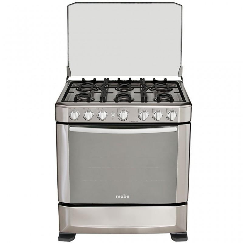 """Cocina a gas con grill 30"""" 6 quemadores Mabe"""