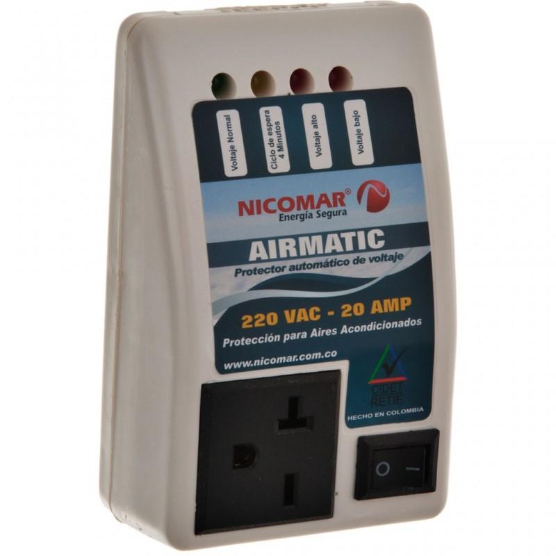 Protector de voltaje para aire acondicionado 220V 20AMP AirMatic Nicomar