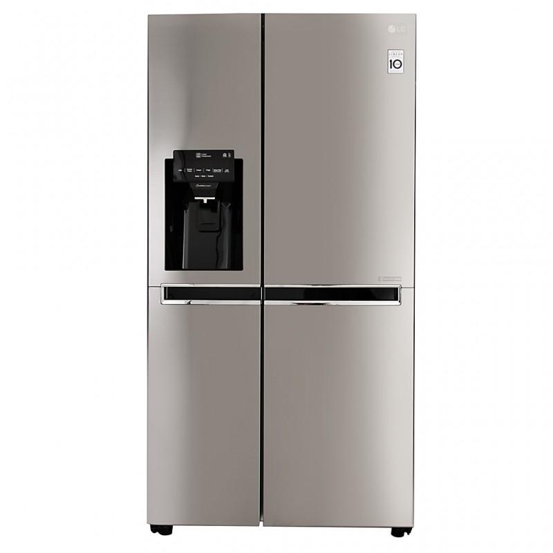 Refrigerador side by side Inverter con dispensador 601L 21' Silver GS65SPP1 LG