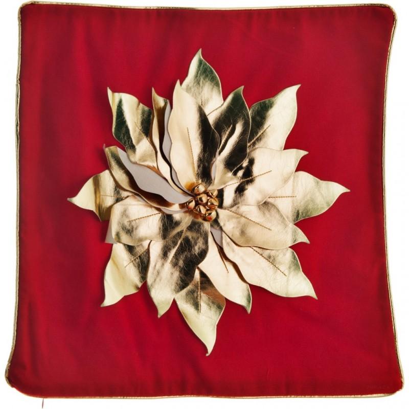 Forro para cojín Flor Dorada Navidad Haus