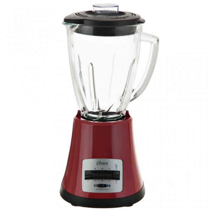 Licuadora con vaso de vidrio y 8 velocidades 1.5 L 450 W Rojo Oster