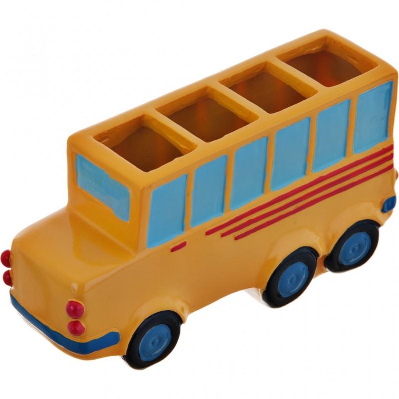 Porta cepillos Bus 100% poliresina Haus