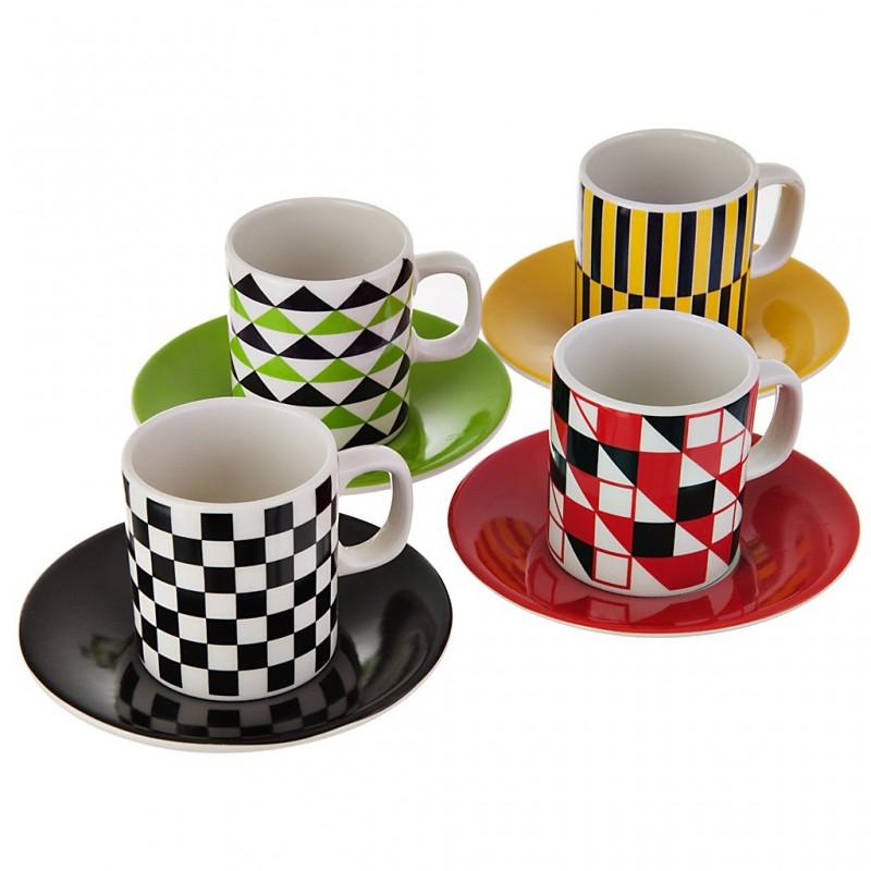 Juego de tazas y platos de cerámica Smart Corona
