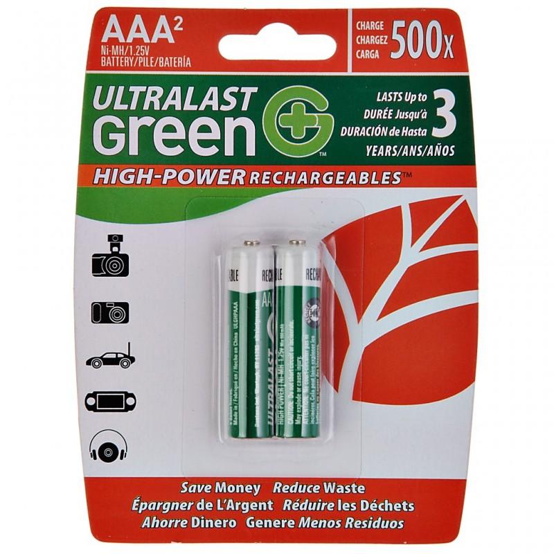 Juego de 2 pilas recargables AAA UltraLast