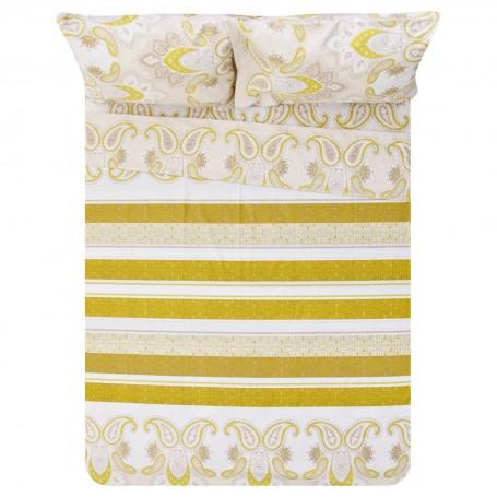 Juego de sábanas Estampado Multi Rayas 144 hilos polialgodón Prisma