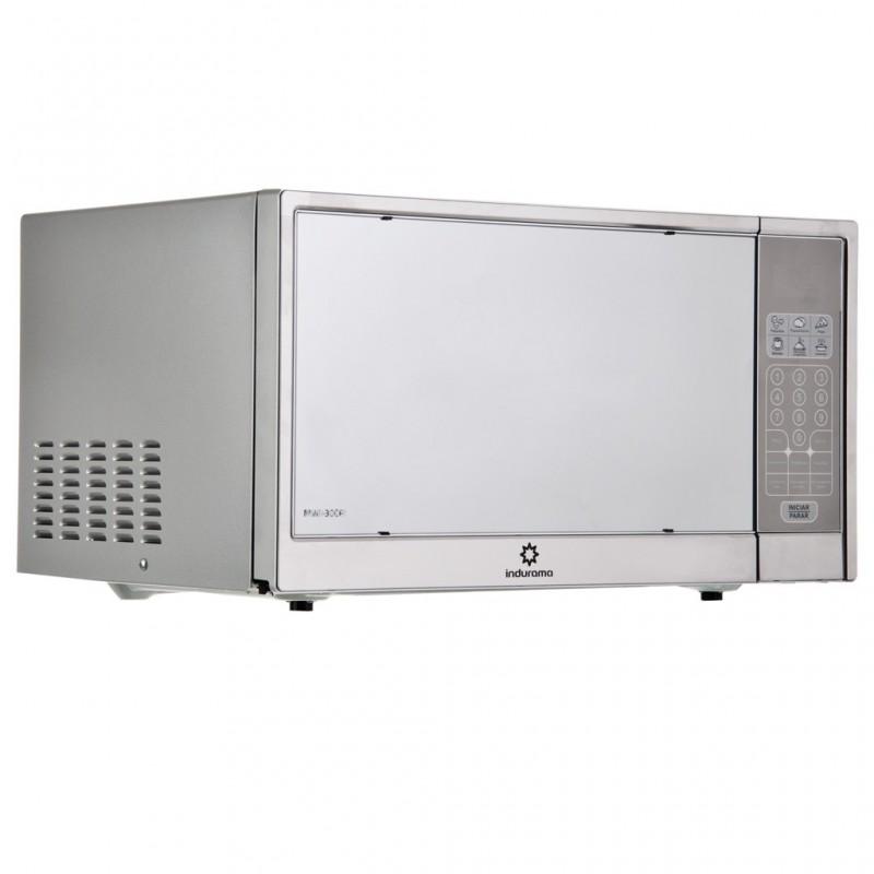Microondas con 10 niveles de potencia y puerta tipo espejo 30L 1.05' 1000W MWI-30CR Indurama