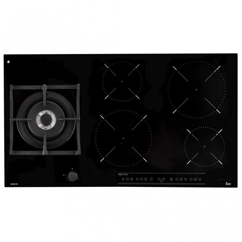 Plancha mixta con 1 quemador / 4 zonas de inducción 1600W-2000W IG 940 1G AI AL DR CI BUT TEKA
