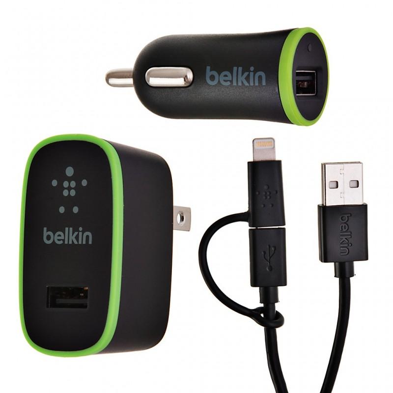 Cargador para pared y auto con cable híbrido Belkin