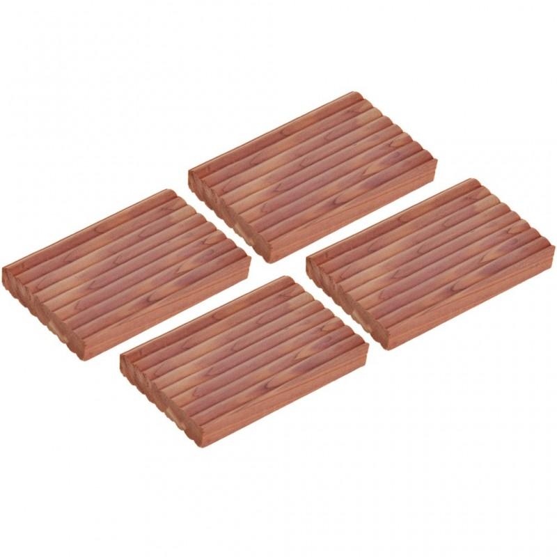 Juego de 4 bloques aromatizantes de cedro para closet Novo