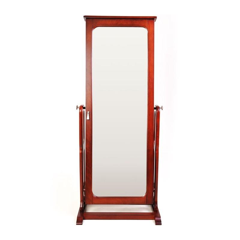 Espejo / Joyero de madera 1 puerta
