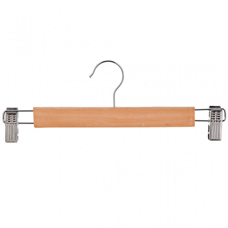 Armador de madera para pantalón con barra y pinzas