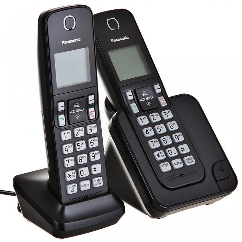 Teléfono inalámbrico 2 auriculares con bloqueo de llamadas y sistema DECT KX-TGC352LAB Panasonic