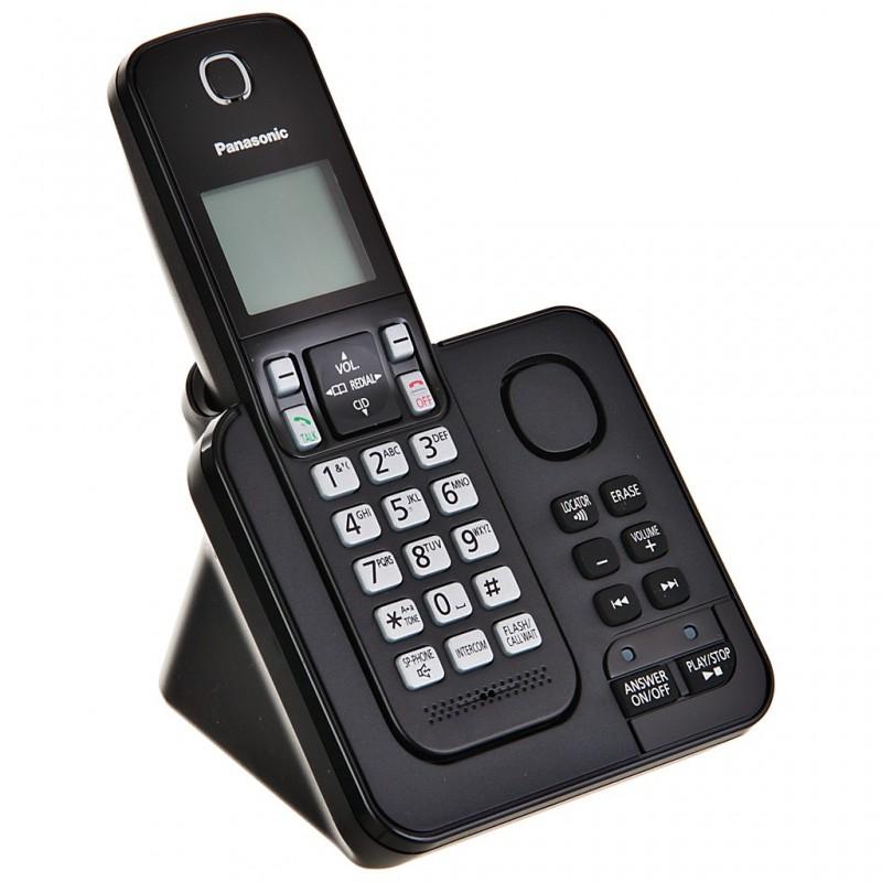 Teléfono inalámbrico con contestador, sistema DECT y bloqueo de llamadas KX-TGC360LAB Panasonic