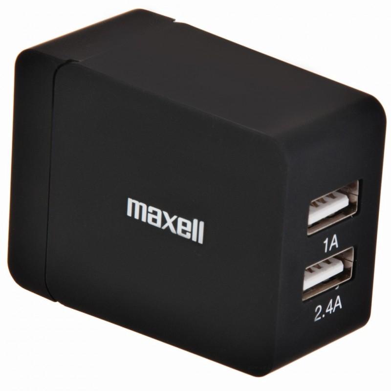 Cargador AC Turbo Dual USB 3.4A Maxell