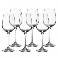 Juego de 6 copas para vino blanco Grand Gourmet Bohemia Cristal