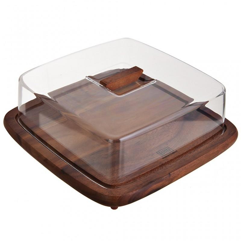 Quesera de madera con tapa plástica Billi
