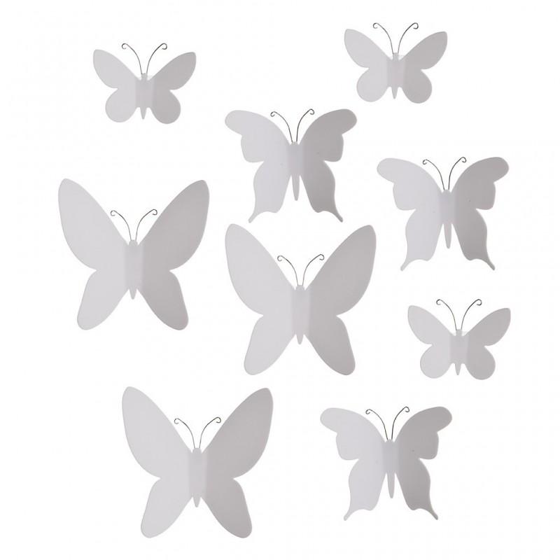Juego de 9 apliques para pared Mariposa Umbra