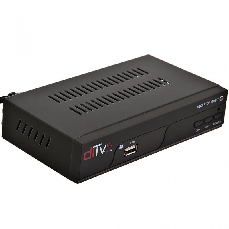 Receptor de TV digital ISDB-T con control, antena, RCA y HDMI DITV-168 MaxiTec