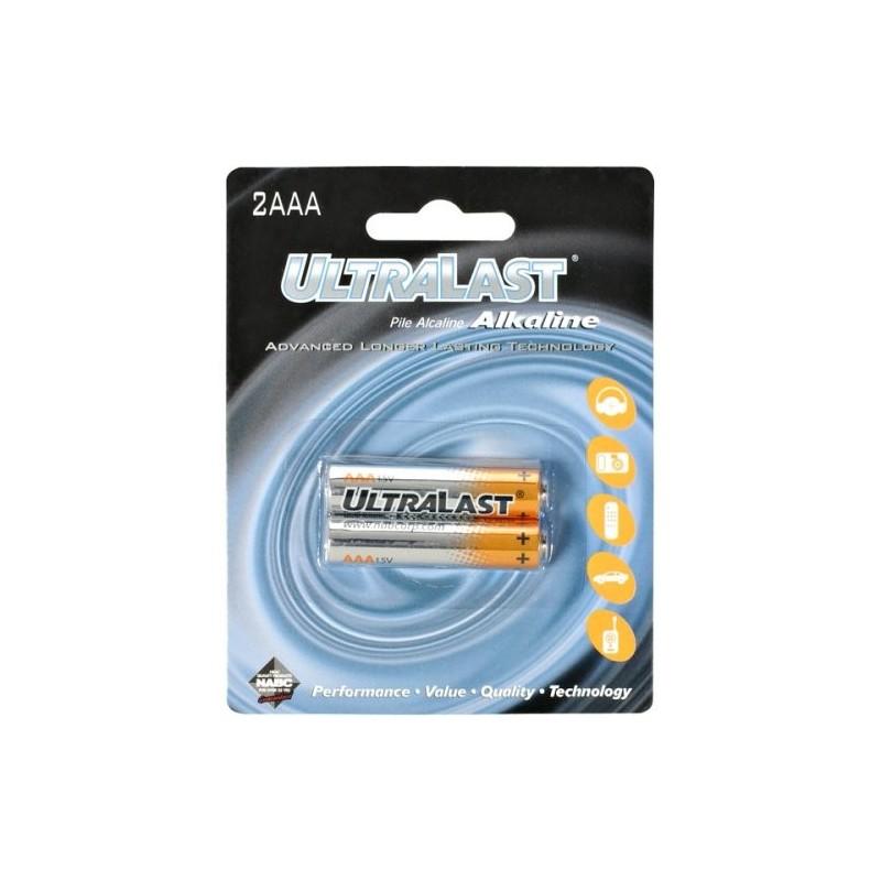 Juego de 2 pilas AAA Alcalina UltraLast