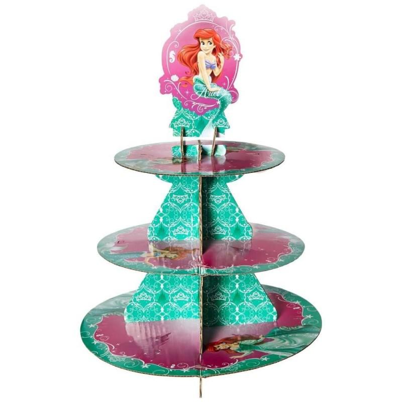 Porta cupcakes 3 niveles La Sirenita Wilton