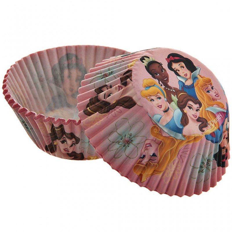 Juego de 50 pirutines de papel Princesas Disney 5 cm Wilton