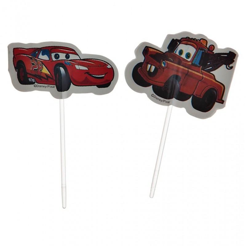 Juego de 24 pinchos para cupcakes Cars Wilton