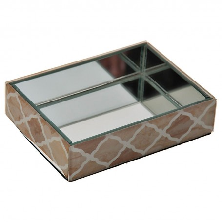 Jabonera de vidrio Geométrico