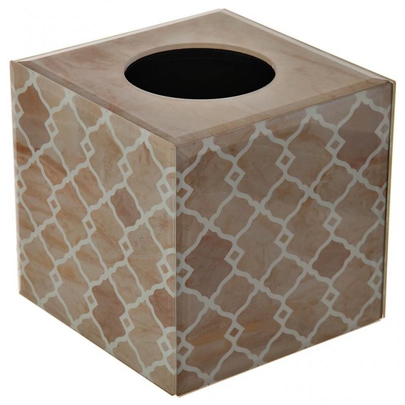 Porta kleenex de vidrio Geométrico