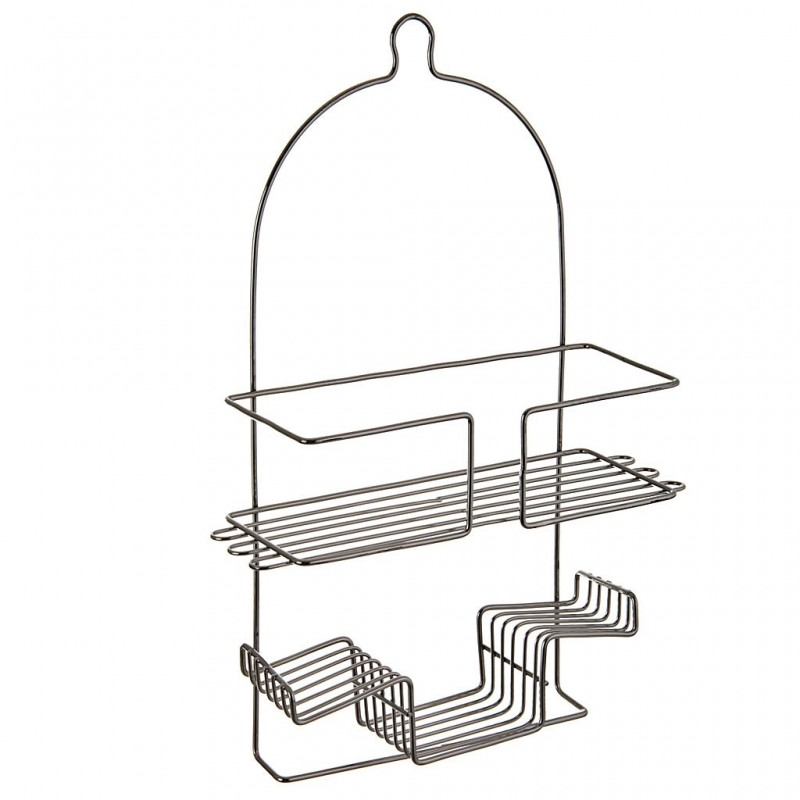 Organizador de ducha 2 niveles Metal Cromado