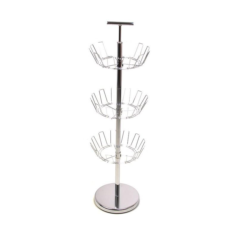 Zapatera de pedestal de 3 niveles