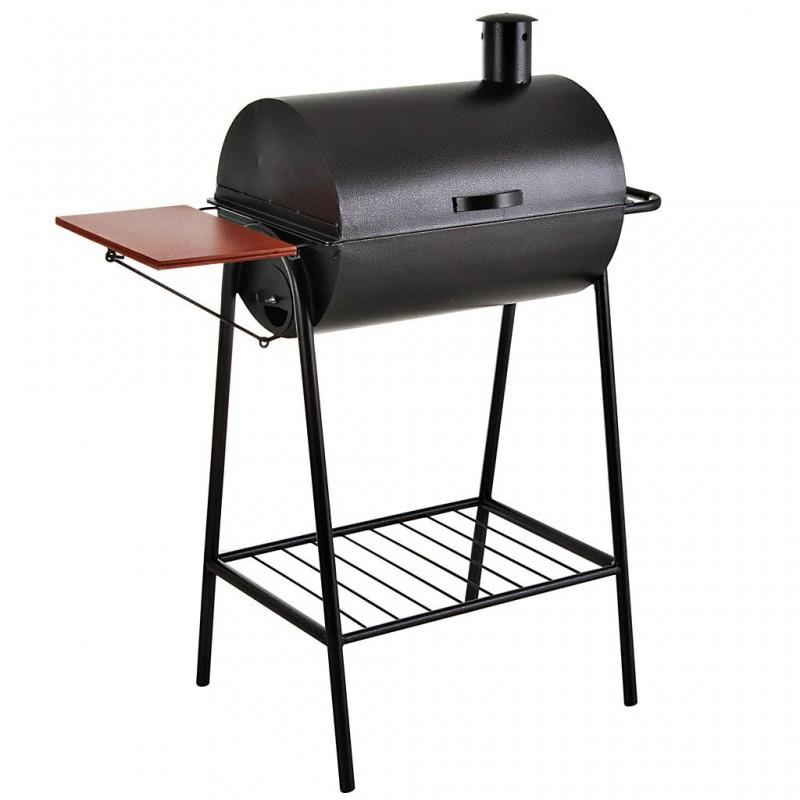 BBQ a carbón con tapa y parrilla inoxidable Arte Valle