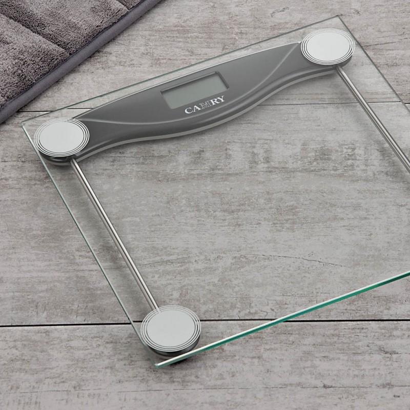 Balanza digital de vidrio para baño con 4 sensores y Autoencendido EB9068 Camry