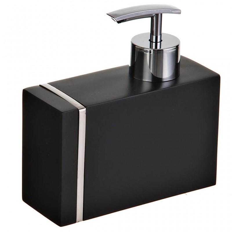 Dispensador para jabón de poliresina Noble Negro Wenko