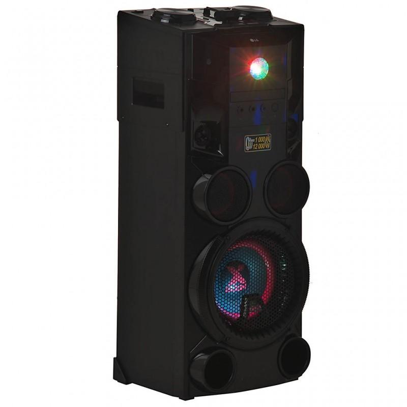 Parlante para fiesta con Radio FM, CD, 2 USB y entrada para micrófono 1000W OM7560 LG