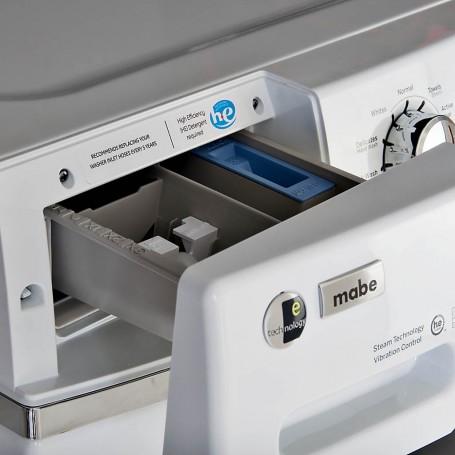 Lavadora de carga frontal 10 ciclos y 5 niveles de temperatura 37.4 lbs Mabe