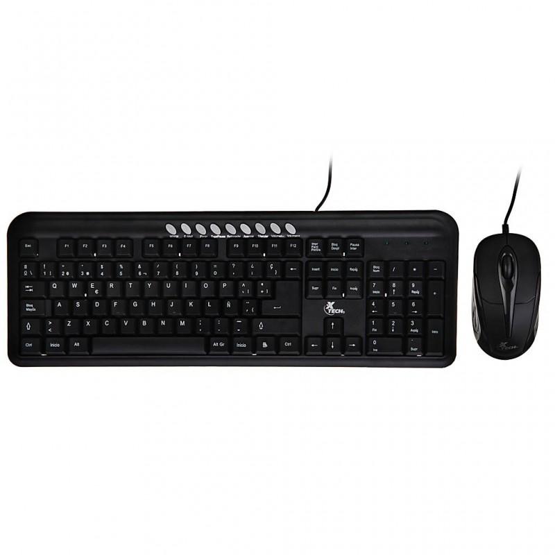 Teclado + Mouse alámbrico USB XTK-300S XTech