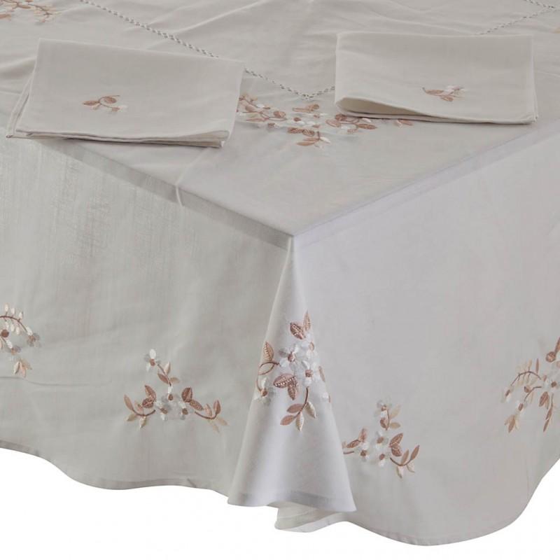 Mantel con servilletas Flores Habanas Haus