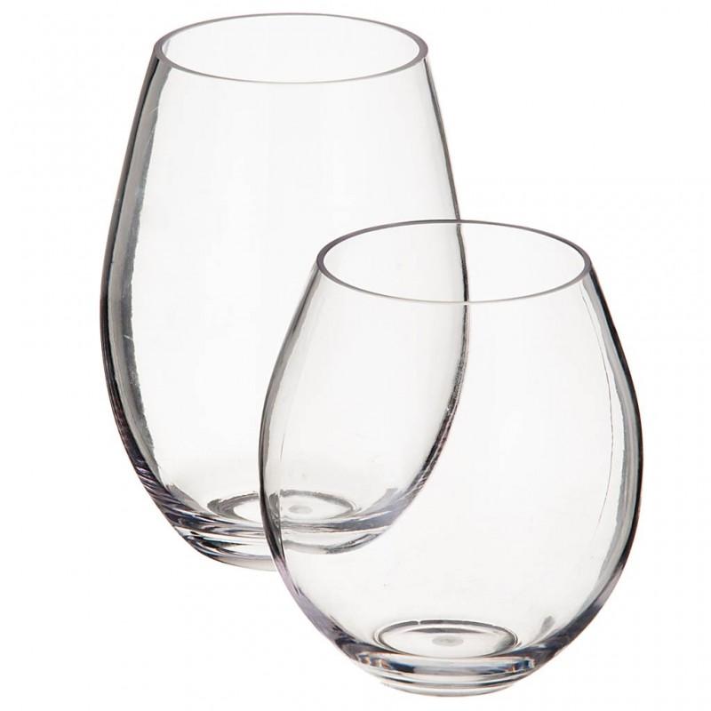 Vaso de acrílico Clear Redondo