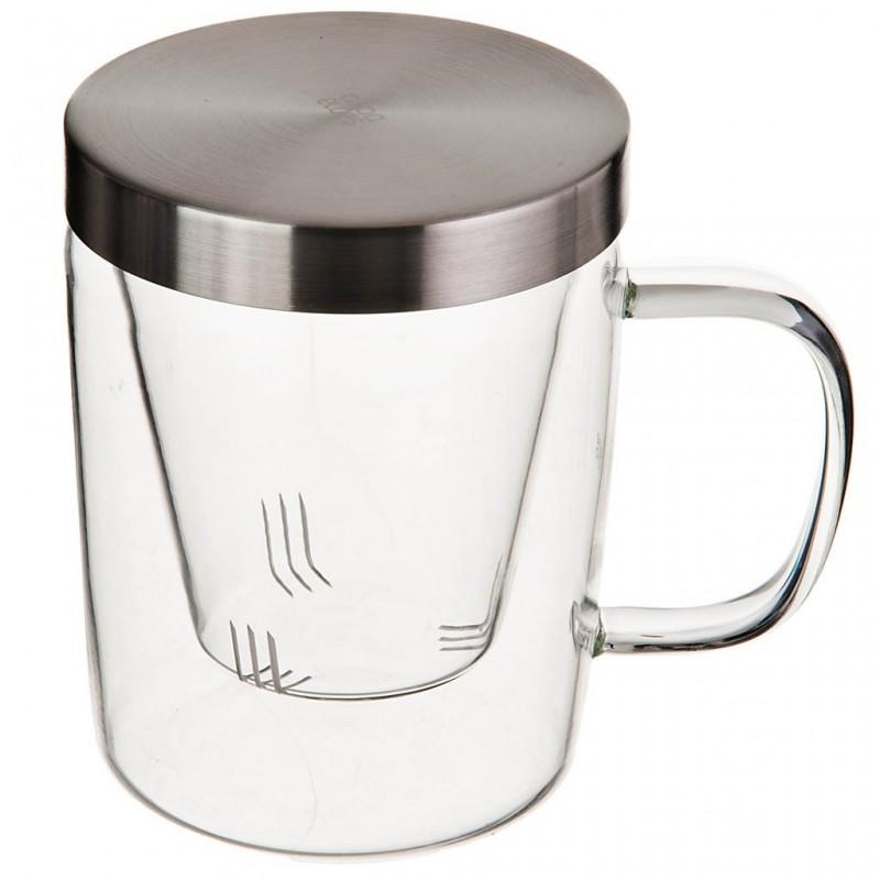 Jarro con infusor de té vidrio / acero inoxidable 500 ml