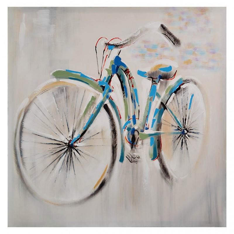 Cuadro Bicicleta Multicolor 80 x 80 cm