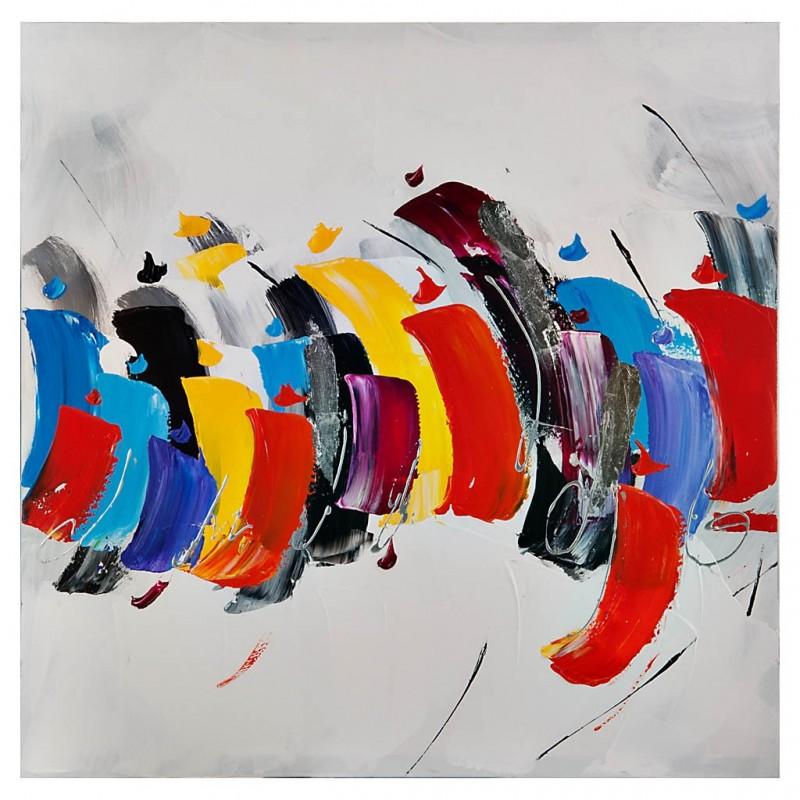 Cuadro Abstracto Multicolor 80 x 80 cm
